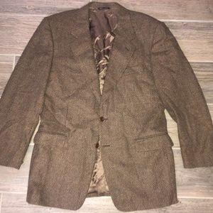 Men CANALI Tweed Check CASHMERE WOOL Blazer 40R